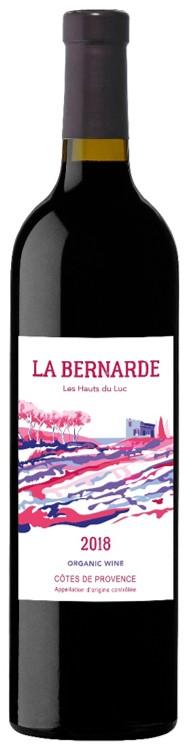 Packshot de notre bouteille La Bernarde vin rouge côtes de provence 2018