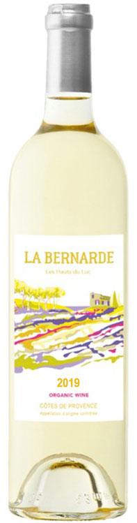Packshot de notre bouteille La Bernarde vin blanc côtes de provence 2019