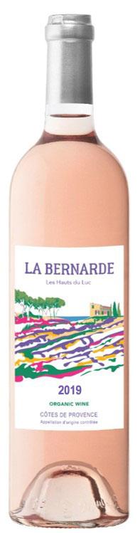 Packshot de notre bouteille La Bernarde vin rosé côtes de provence 2019